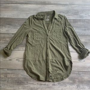 Sonoma green button up size S
